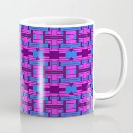 Geometric Elements Pink and Blue Coffee Mug