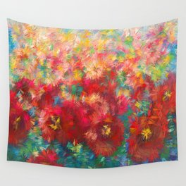 Floral Abstract Wall Tapestry