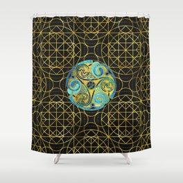 Decorative Triquetra Celtic Ornament Shower Curtain