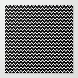 Black Chevron Canvas Print