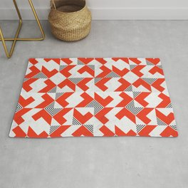 Marble Red Blocks Rug