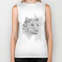leopard Biker Tanks featuring Leopard by Anna Tromop Illustration