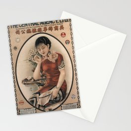 Vintage poster - The Central Agency Stationery Cards