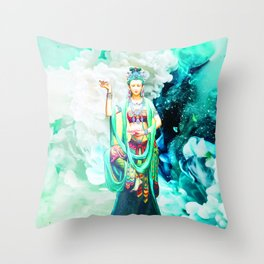 The Goddess of Mercy Throw Pillow