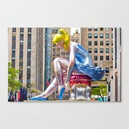 Seated Ballerina at Rockefeller Center 1 Canvas Print