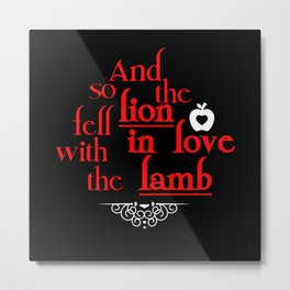 Lion & Lamb Metal Print
