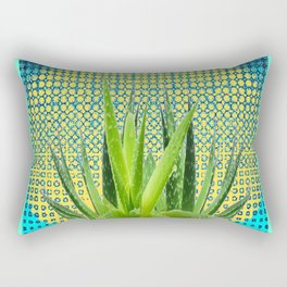 MODERN ALOE VERA SUCCULENT OPTICAL ART Rectangular Pillow