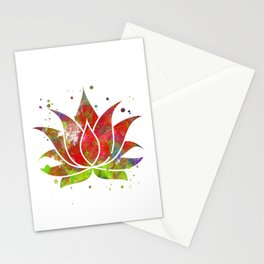 Colorful Lotus Flower Stationery Cards