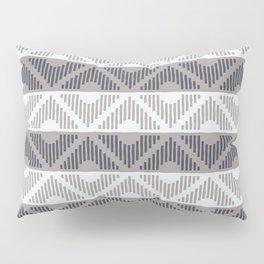 Rhombus (Gray and Blue Pattern) Pillow Sham