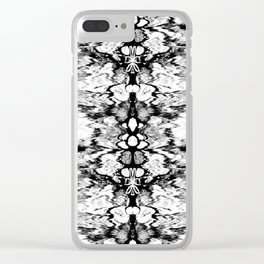 Modern Bohemian Black and White Pattern Clear iPhone Case