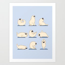 Baby Seal Yoga Art Print