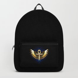 Gold Ankh with Wings Backpack
