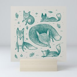 Fox Pattern Mini Art Print