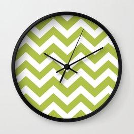 Margarita - green color - Zigzag Chevron Pattern Wall Clock