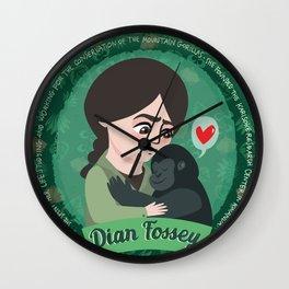 Women in science | Dian Fossey Wall Clock