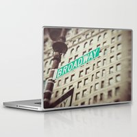 broadway Laptop & iPad Skins featuring Broadway  by Carmen Moreno Photography