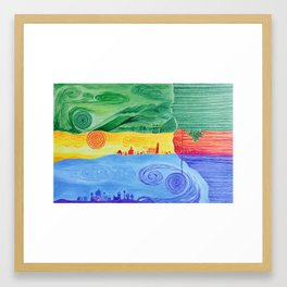 Parallelwelten Framed Art Print