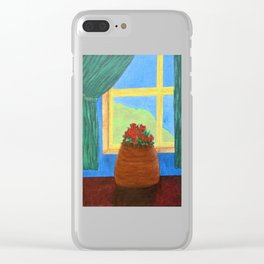 Roses in the Window Clear iPhone Case
