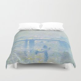 1899-Claude Monet-Charing Cross Bridge-65 x 80 Duvet Cover