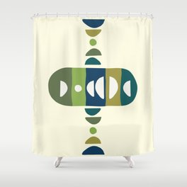 Storm Calka Green Space Shower Curtain