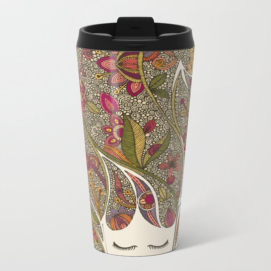 Dreaming with flowers Metal Travel Mug
