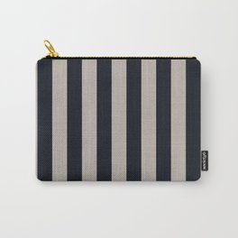 Vertical Stripes Black & Warm Gray Carry-All Pouch