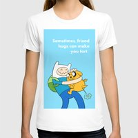 finn and jake T-shirts featuring Finn and Jake Fart  by Richtoon