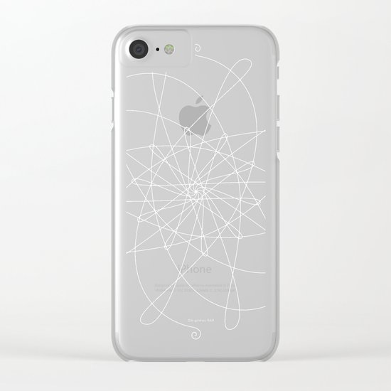 Ornament – whirling Clear iPhone Case
