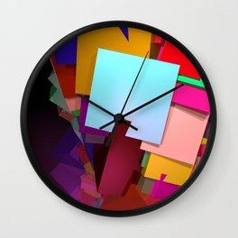 crazy cuboids Wall Clock