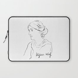 Virginia Woolf Portrait with Signature Laptop Sleeve