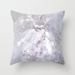 Tutu Mist Throw Pillow