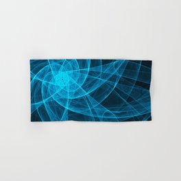 Tulles Star Computer Art in Blue Hand & Bath Towel