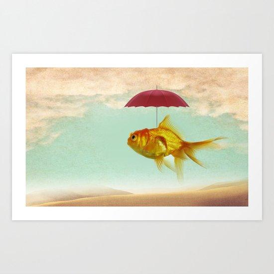 under cover goldfish Art Print
