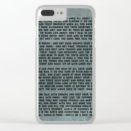 IF Clear iPhone Case