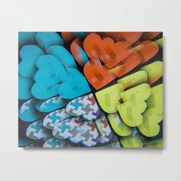 Hearts Kaleidoscope Metal Print
