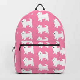 Westies Pink Pattern Backpack