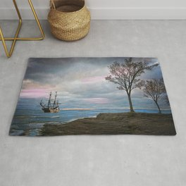 Ship in a Storm Rug
