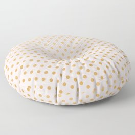 Blush pink and faux gold foil dots Floor Pillow