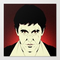 scarface Canvas Prints featuring Scarface by Renan Lacerda