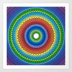 Happy Rainbow Mandala Art Print