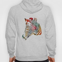 Colored Zebra Pattern Hoody