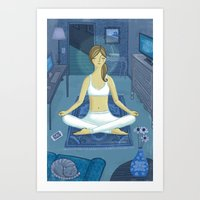 meditation Art Prints featuring Meditation by Anne Was Here