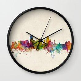 Miami Florida Skyline Wall Clock