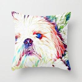 Shih tzu Rainbow Art Throw Pillow
