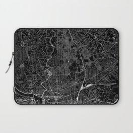 Washington D.C. Black Map Laptop Sleeve