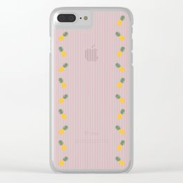 Seersucker Pineapple Clear iPhone Case