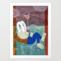 Spring Snooze, Too Art Print