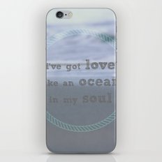 Love Like An Ocean iPhone & iPod Skin