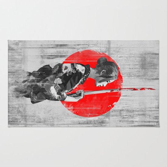 Samurai Girl Rug