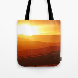 Golden morning in Africa Tote Bag